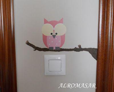 ALROMASAR: Alegrar un interruptor con vinilo y pintura