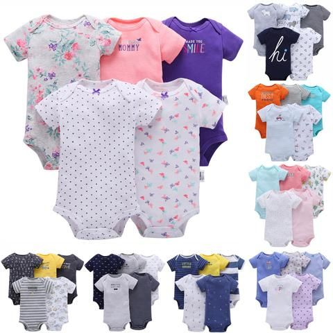 b3f31cbce Baby Carter toddler Bebes Girl and Boys Bodysuit Set Short Bodysuit 5 pcs  Pack Summer Bebes Girl and Boys