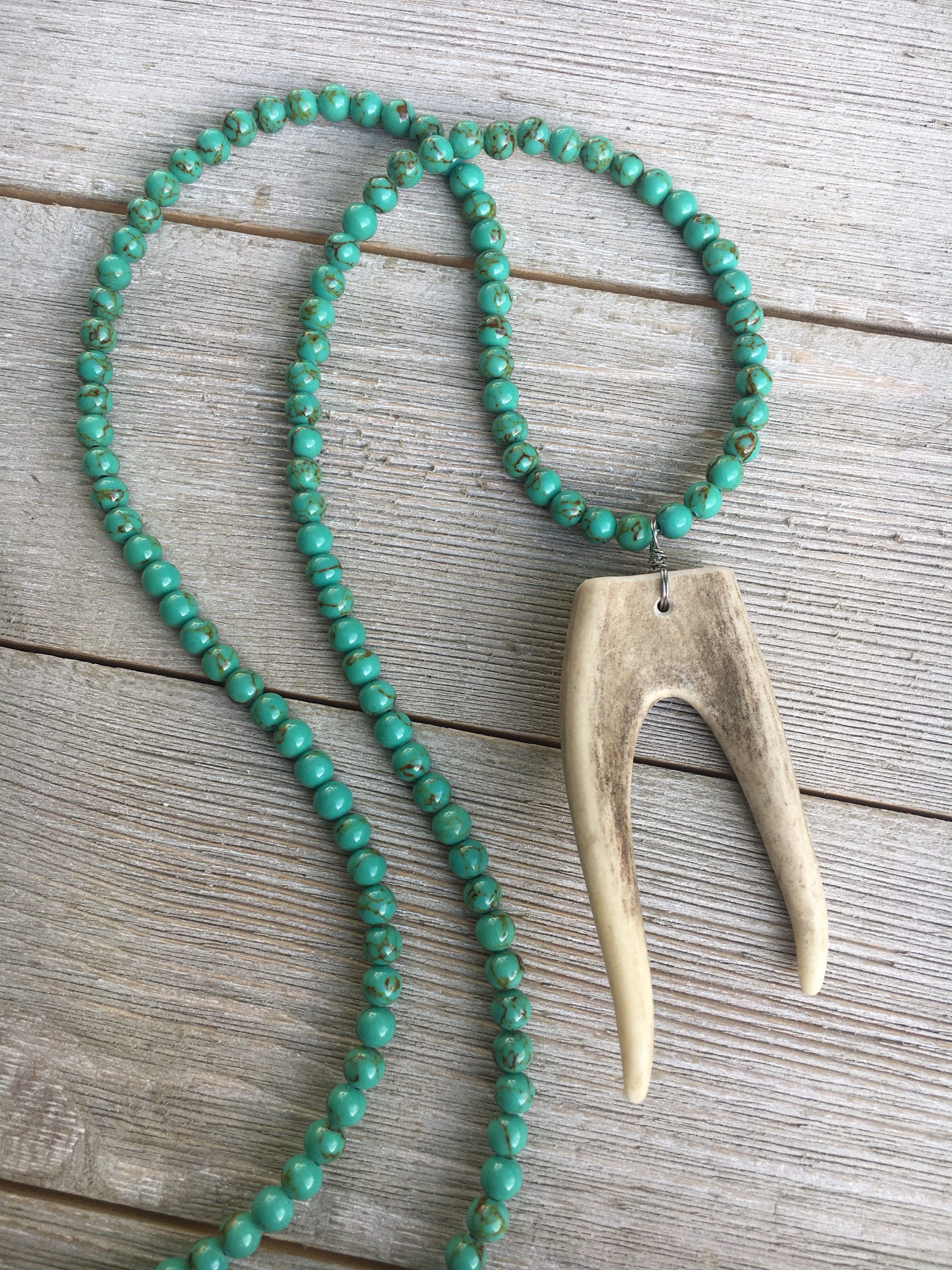 c h k products horns necklace antler u i