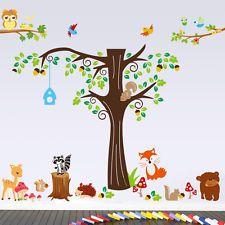 Wandtattoo Wald Sticker Tiere Zoo Spielzimmer Kinderzimmer Riesig Groß  XXXXL !