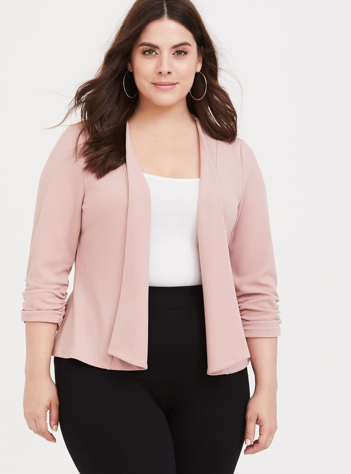af95d3df64ba5 Plus Size Coats & Jackets for Women. Pink Drape Blazer - A softly textured  and lightweight blazer is an effortless layering piece that has ...
