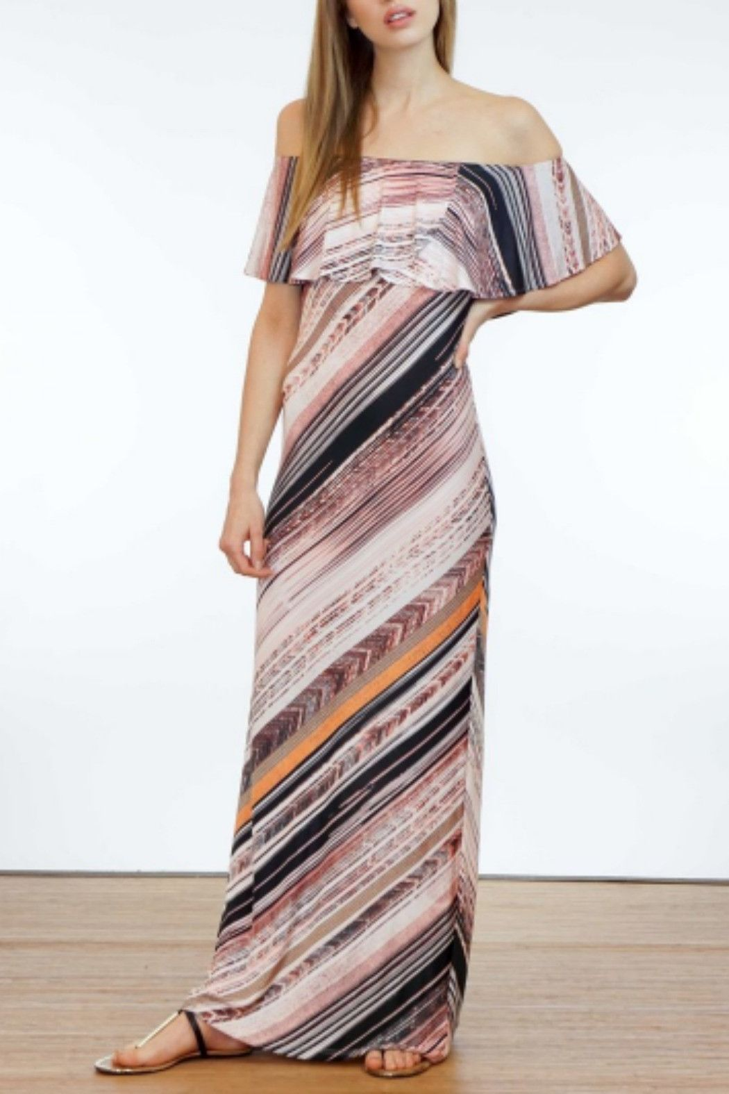 Ruffle maxi dress products pinterest products