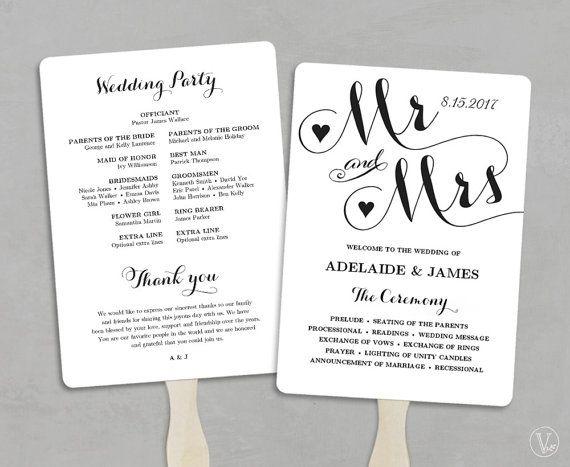 Cheap Wedding Programs.Wedding Fans Printable Wedding Fan Program Template Fan
