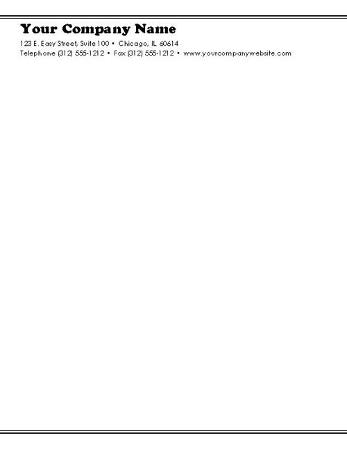 Sample Business Letterhead Template - Microsoft Word Download