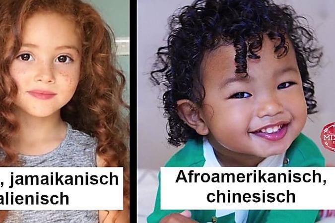 16 Kinder, deren Schönheit Wurzeln in aller Welt hat