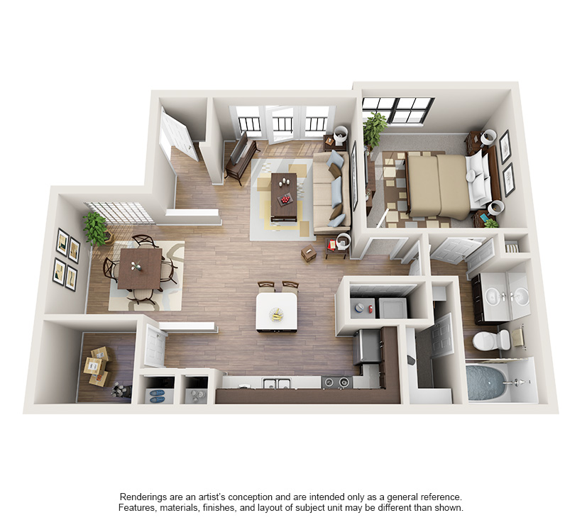 One and Two Bedroom Apartments in Oklahoma City, OK Sims