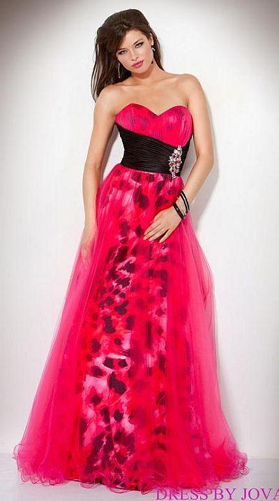 Pink animal print prom dresses