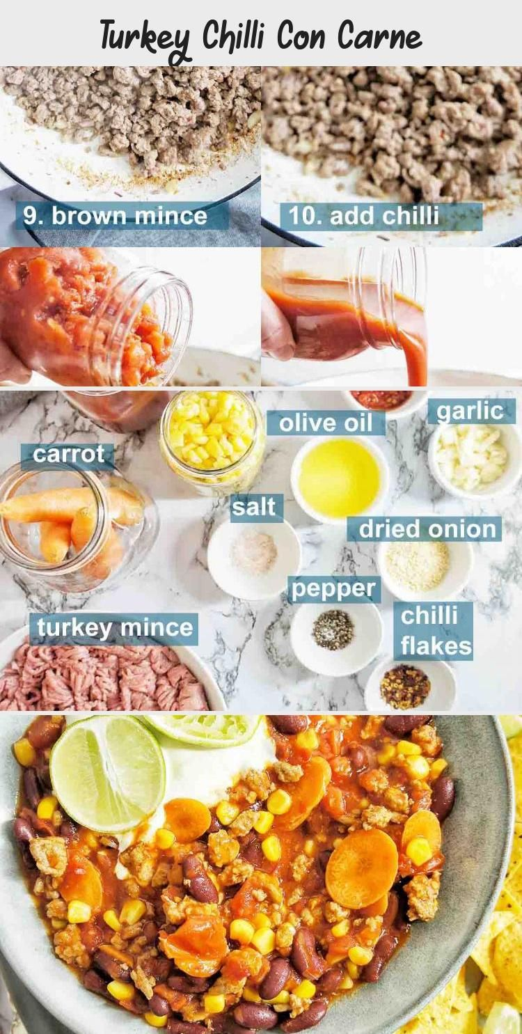 Turkey Chilli Con Carne - Recipes For Kids in 2020 ...