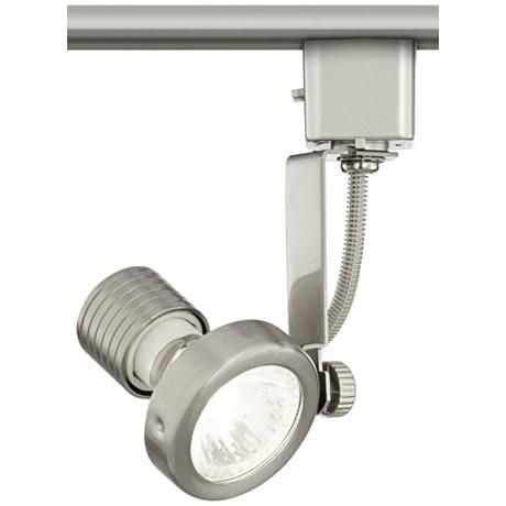 Halogen track head in brushed steel for lightolier systems style halogen track head in brushed steel for lightolier systems style 8v971 energy efficient lightingtracking aloadofball Gallery