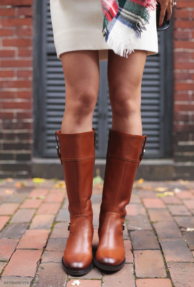 Petite Friendly Narrow Calf Leather Riding Boots Ariat
