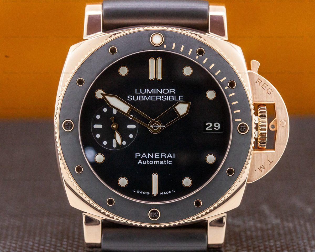 sports shoes 7adf5 4f36c Panerai PAM00684 Luminor Submersible Rose Gold 42MM (31478 ...