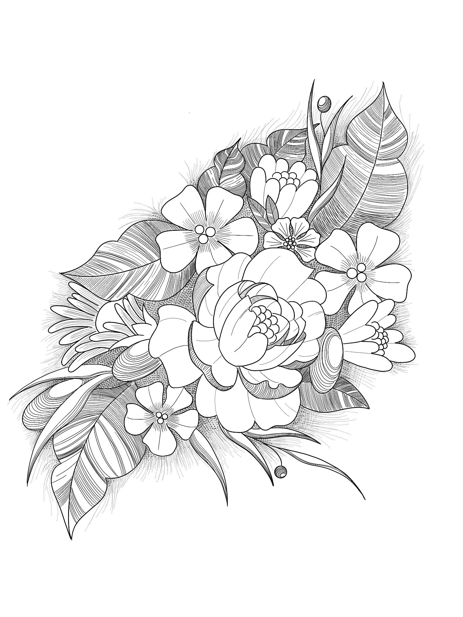 цветочные композиции картинки карандашом пацаны