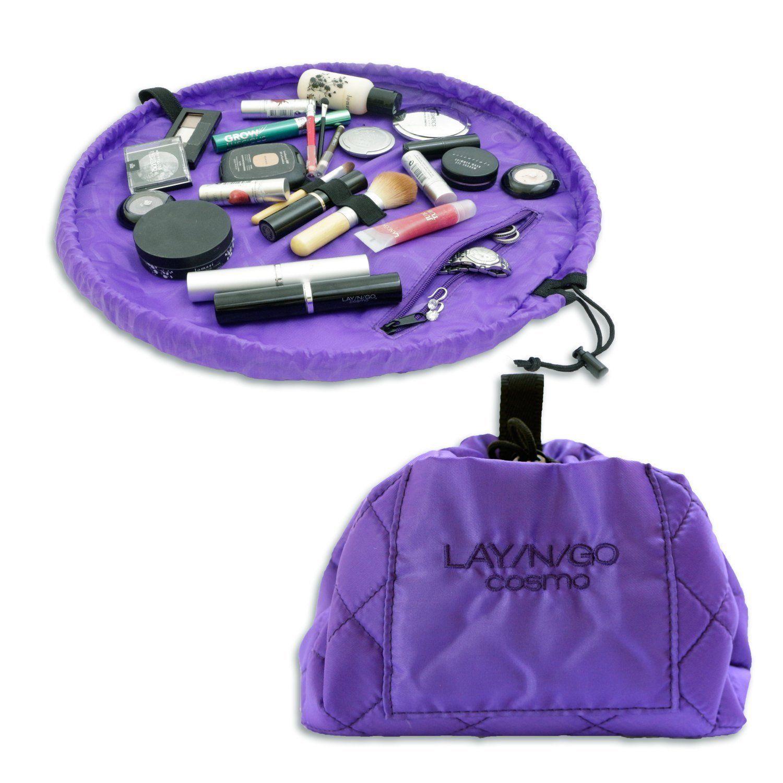 LayNGo Cosmo Purple Makeup Bag Travel Convenient Mac