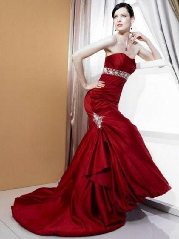 lange rote kleider mit schleppe schmuck trends abendkleider | Bordó ...