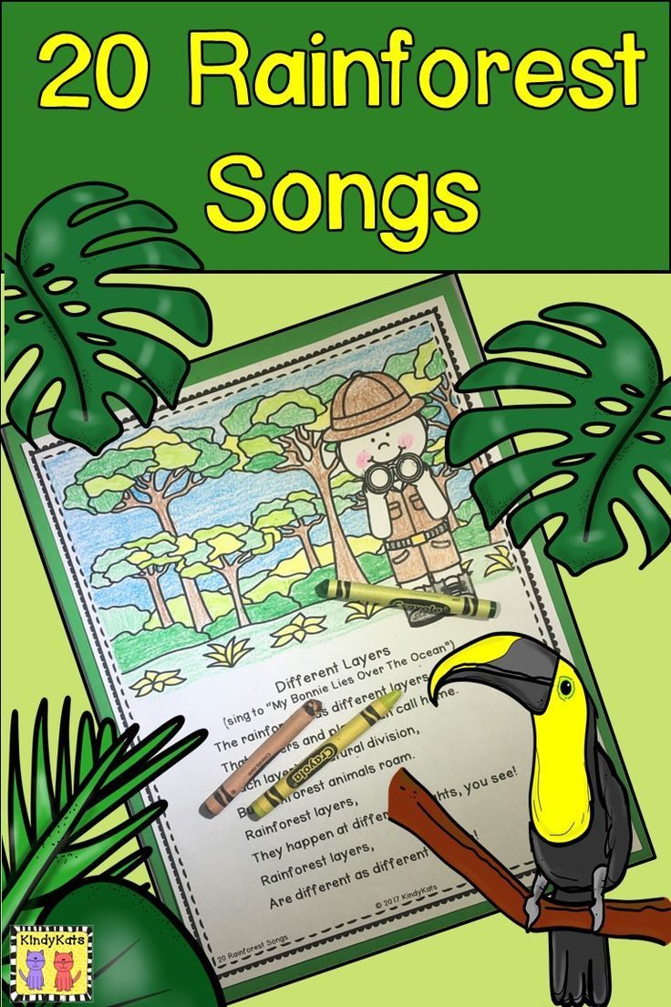 Rainforest Songs Rainforest song, Rainforest crafts