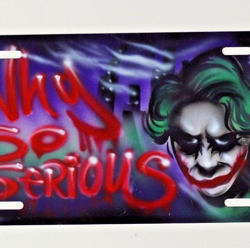 Joker license plate airbrush design spray paint car tag joker license plate airbrush design spray paint car tag solutioingenieria Choice Image