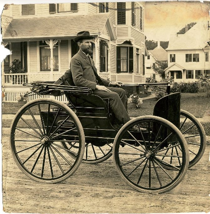 Image result for 1893 – Charles Duryea road-tests the first American-made gasoline-powered automobile