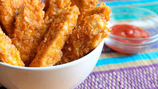 Fingers de pollo empanados con cereales - Recetas de Pollo y Aves - Recetas de cocina - Charhadas.com