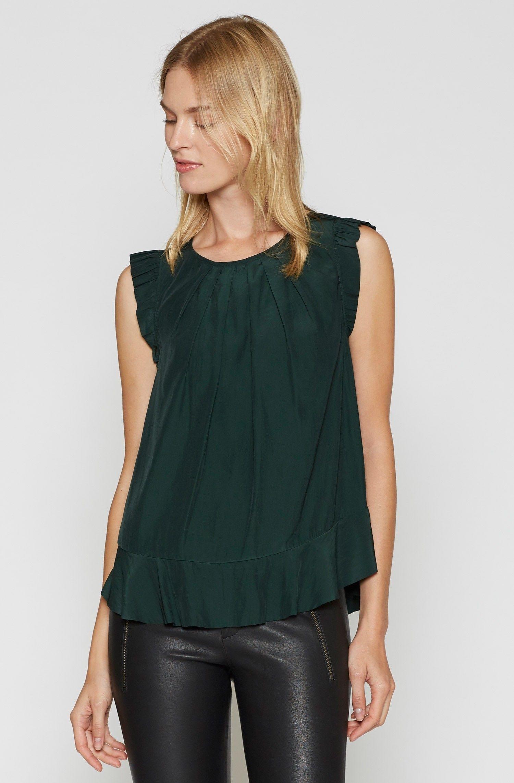 Euna Flutter Top Clothes design, Tops, Women