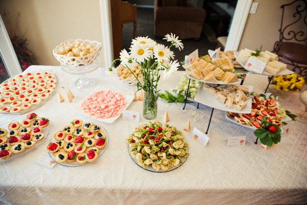 the amazing food from my bridal shower outdoor california bridal