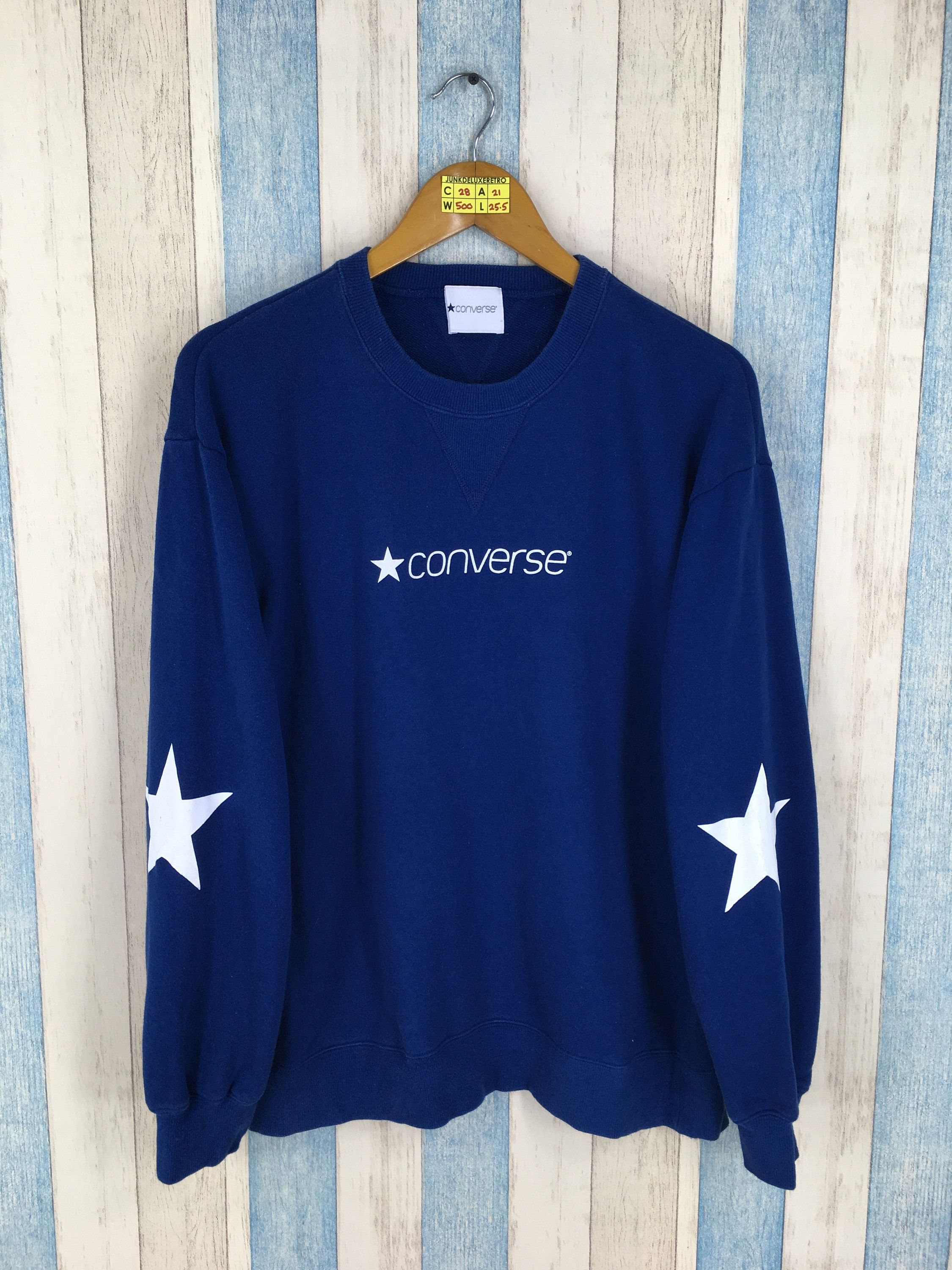2257f8ee711b CONVERSE All Star Pullover Jumper Unisex Medium Vintage Chuck Taylor Usa 90s  Crewneck Sweater Converse Pullover