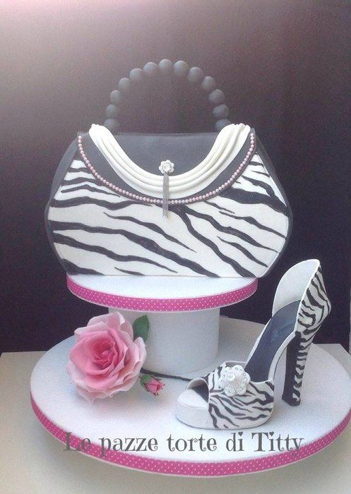 Fashion Bag And Shoes Cake By Tittyaprile Cakesdecor Cake