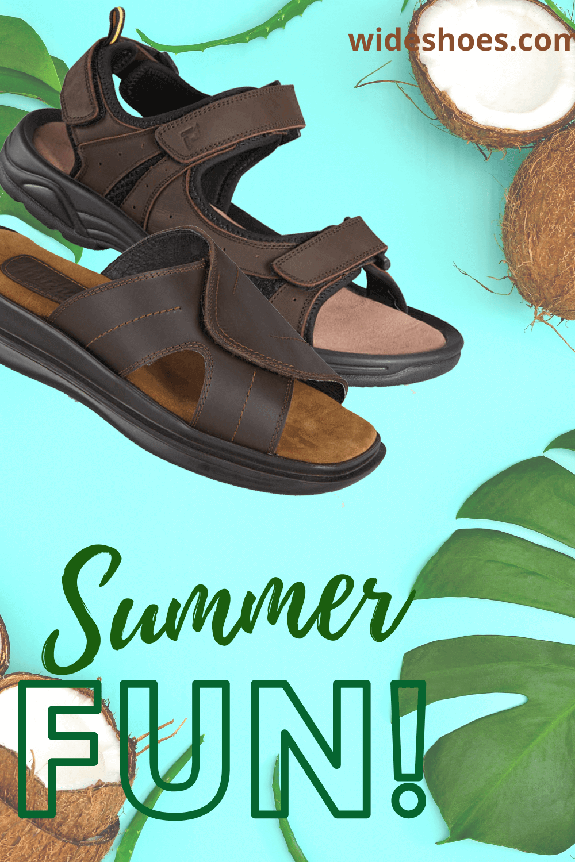 Mens wide sandals, Wide sandals, Wide