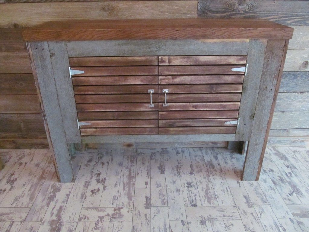 Barn wood upcycle - old fish tank stand upcycled with ...