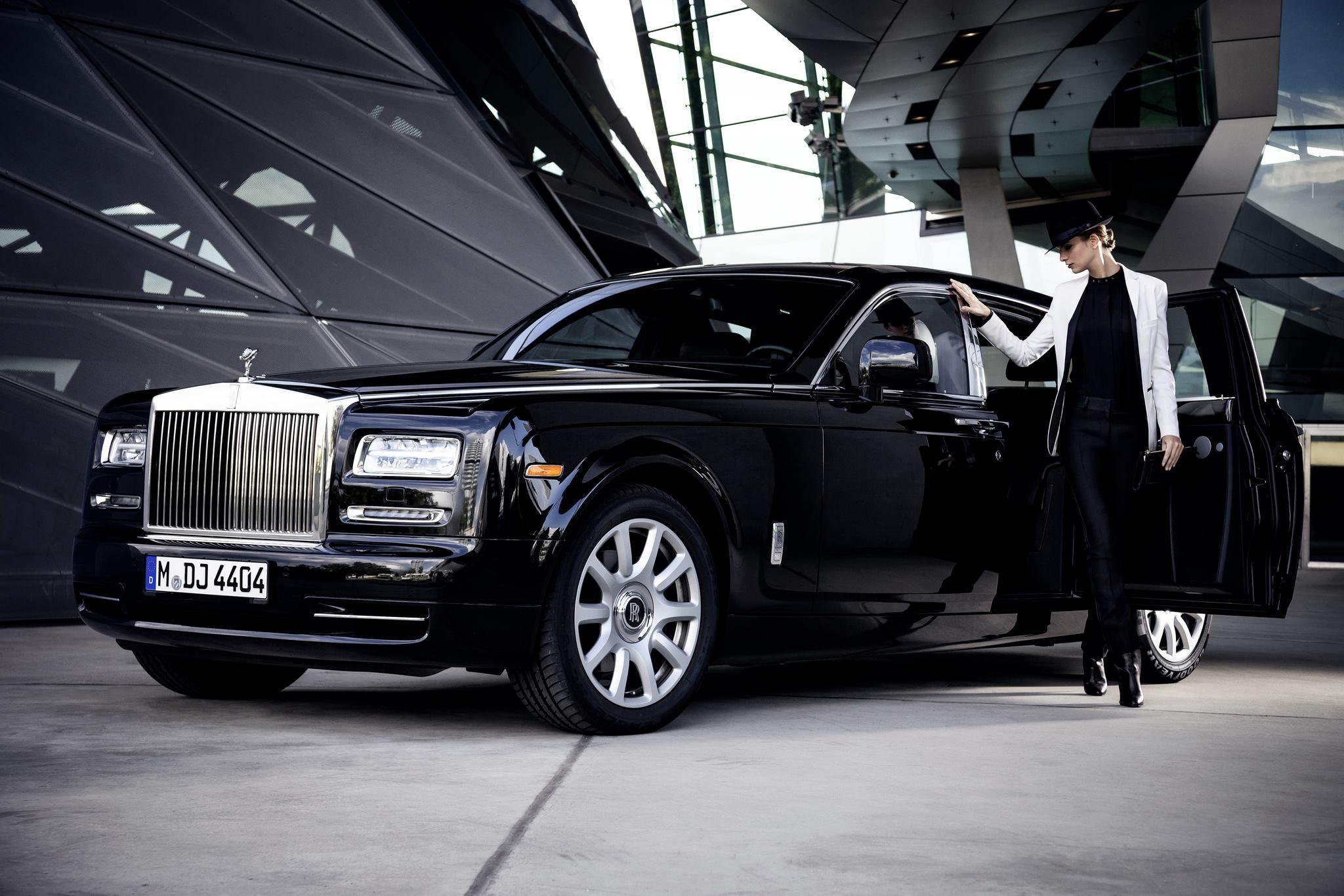 A sleek black phantom takes centre stage in this fashion