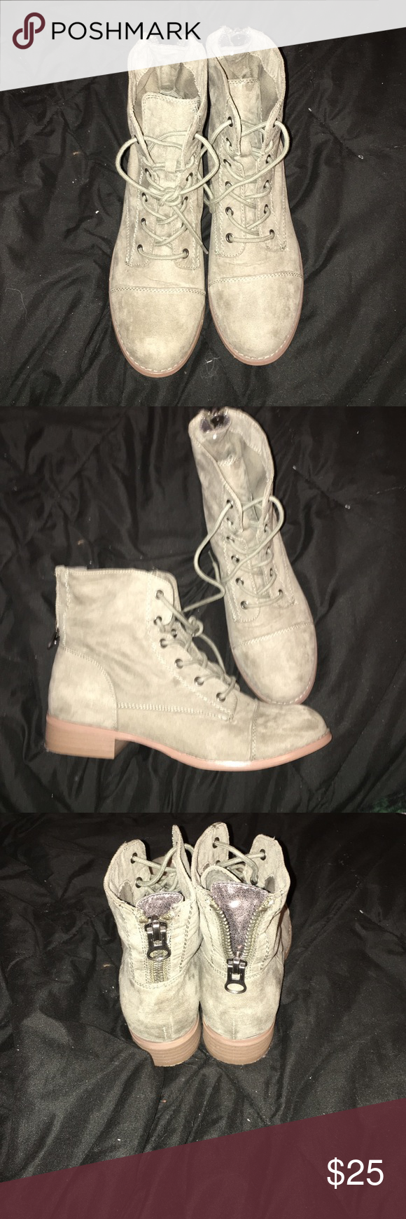Guess army green combat boot Size 7.5 . Worn once G by Guess Shoes Combat & Moto Boots