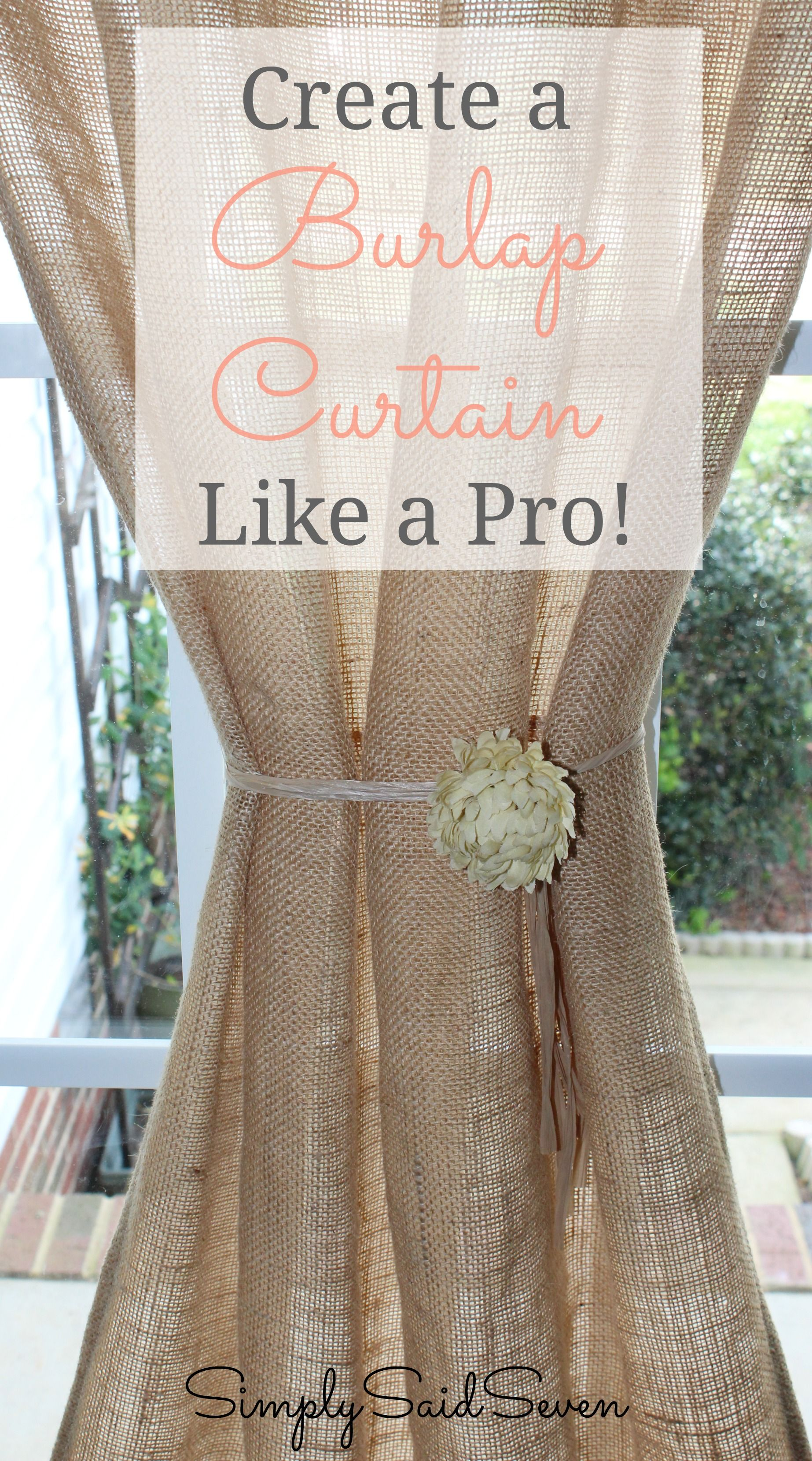 No Sew Burlap Curtains | No-sew burlap curtains - Randi with an