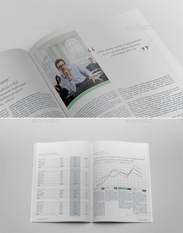 Annual Report InDesign Layout Annual Business Report Templates - business report templates