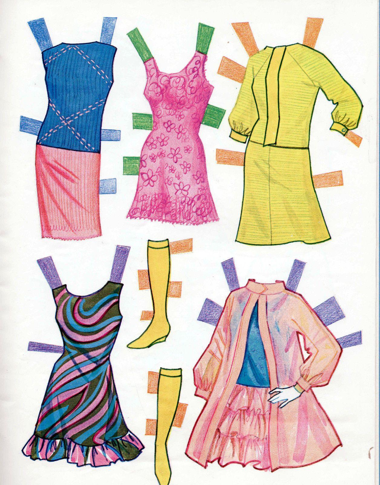 1968 Vintage Whitman Barbie Christie Stacey paper dolls uncut MOD ...