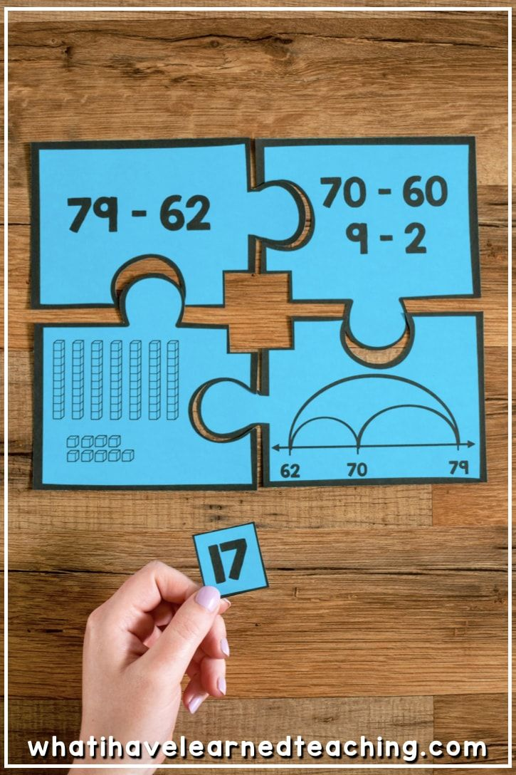 Number Puzzles for Second Grade Math Stations in 2018 | math ...