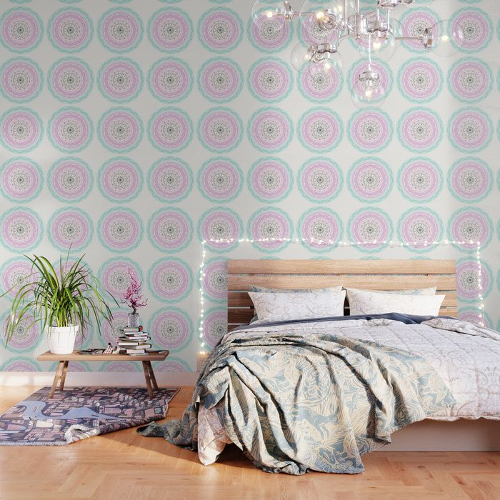 Buy Blue Pink Pastel Mandala Wallpaper By Famenxt Worldwide Shipping Available