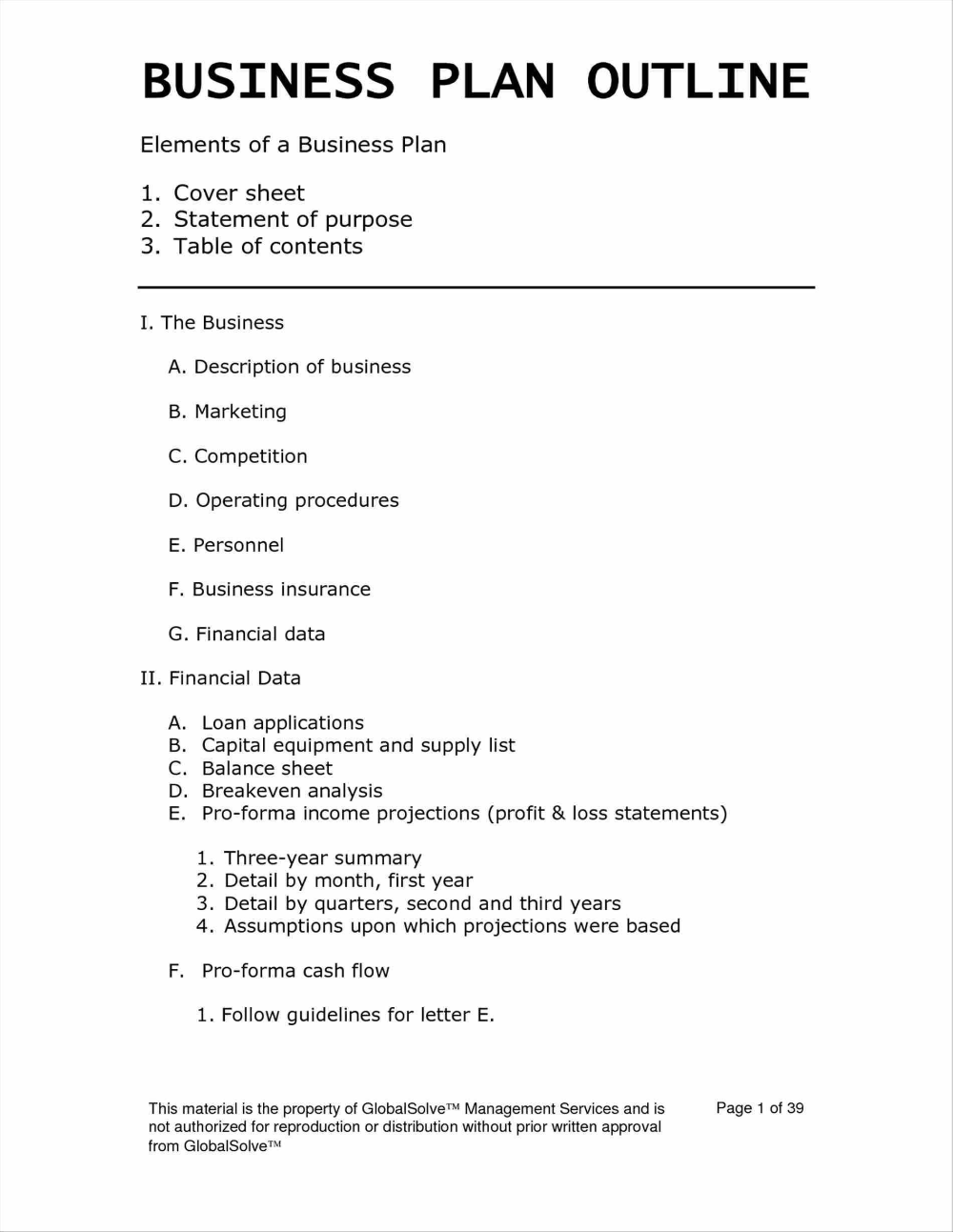 Basic Business Plan Template Unique Templates Simple Page Word