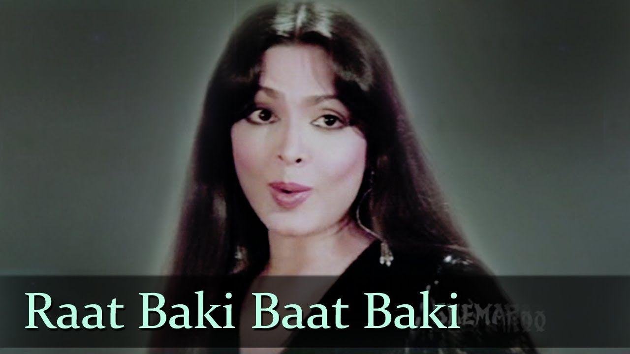 Raat Baaki Baat Baaki Parveen Babi Amitabh Bachchan Shashi Kapoor Namak Halal Parveen Babi Bollywood Music Shashi Kapoor