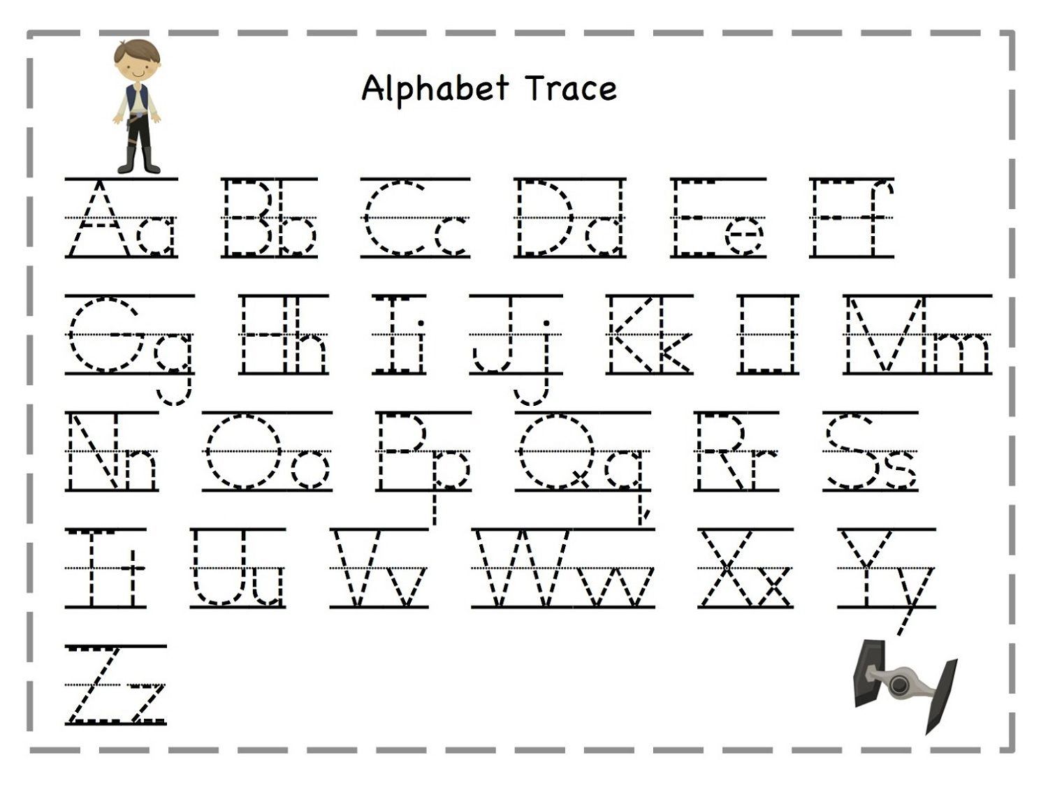 tracing letters for kids activities pinterest With alphabet letter tracing templates