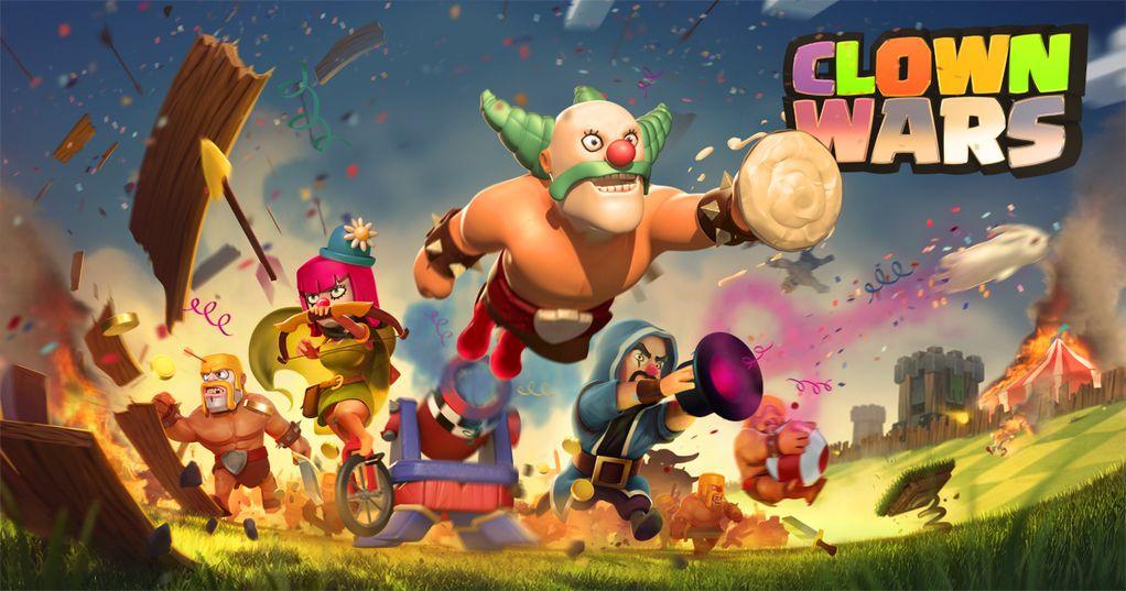 Clash of Clans=Clown Wars | Funny stuff | Pinterest | War