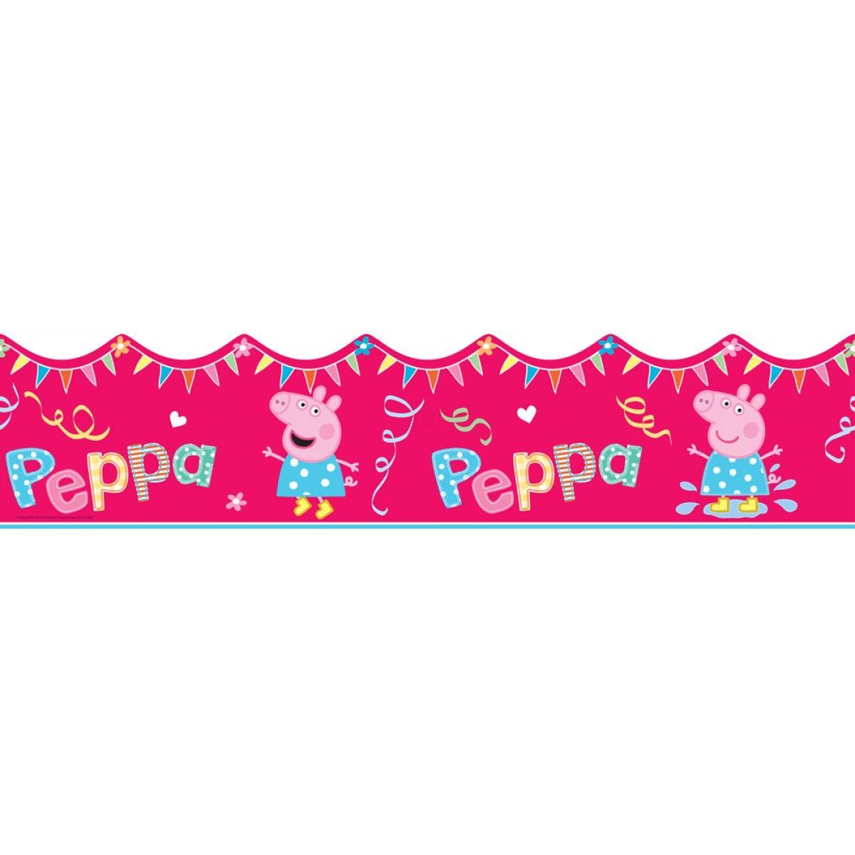 Peppa Pig Shaped Self Adhesive Wallpaper Border 5m