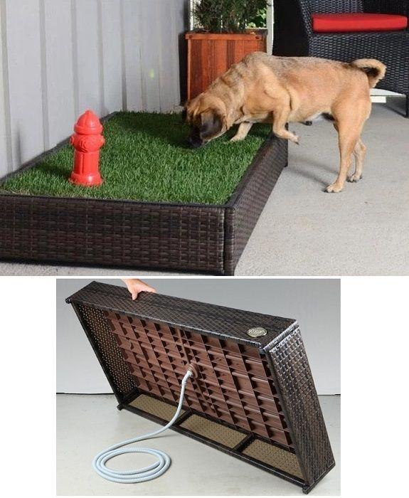 Porch potty estandar tapete perros entrenamiento caja - Jardin para perros ...