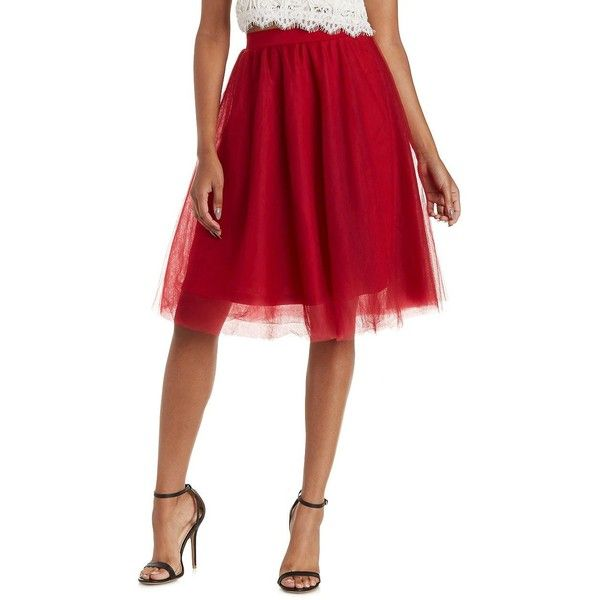 Charlotte Russe Red Tulle Full Midi Skirt by Charlotte Russe at... ($27) ❤ liked on Polyvore featuring skirts, red, charlotte russe, ballet skirt, tulle ballet skirt, tulle midi skirt and mid-calf skirt