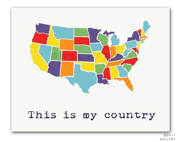 Modern Us Map.Usa Map Nursery Decor Us Map For Kids Playroom Decor World Maps
