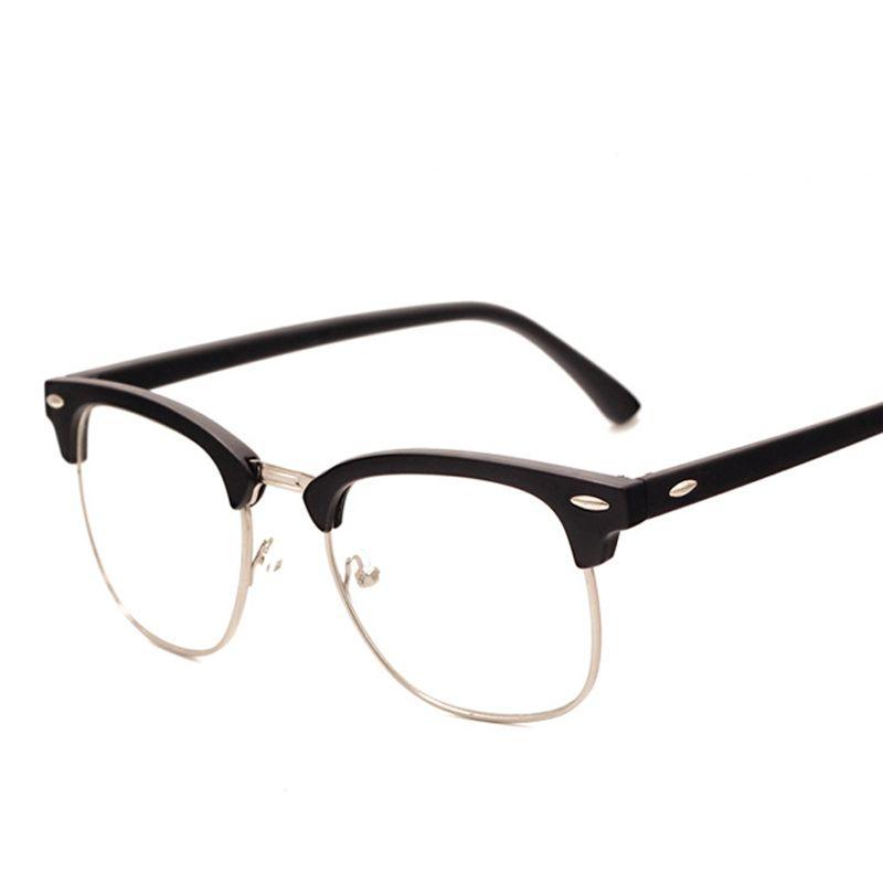 ebe7743da177c9 Moda Hombres de la Marca de Moda Marco Gafas con Lentes Transparentes Hombre  Johnny Depp Nerd Óptico Mujeres Informáticos Vidrios Del Ojo Marcos PA0554
