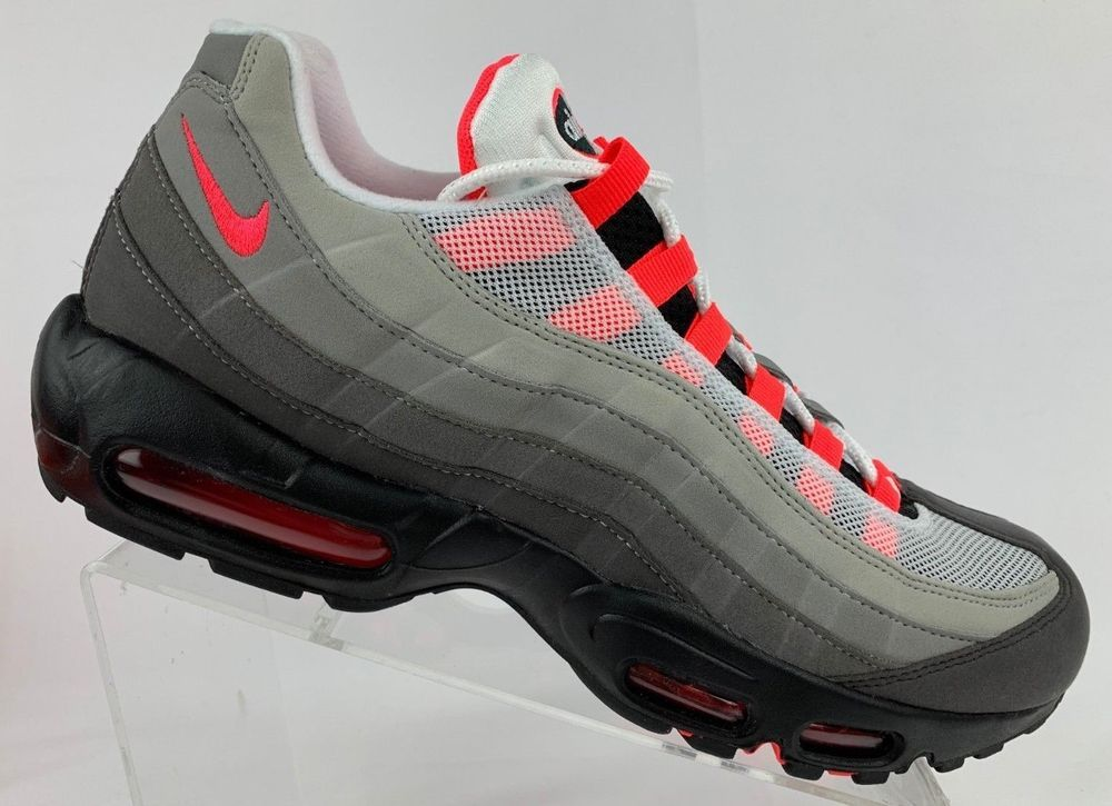 new style a4a5d 0728e Mens Nike Air Max 95 OG AT2865-100 White Solar Red Brand New With Box Size 6   Nike  AthleticShoe