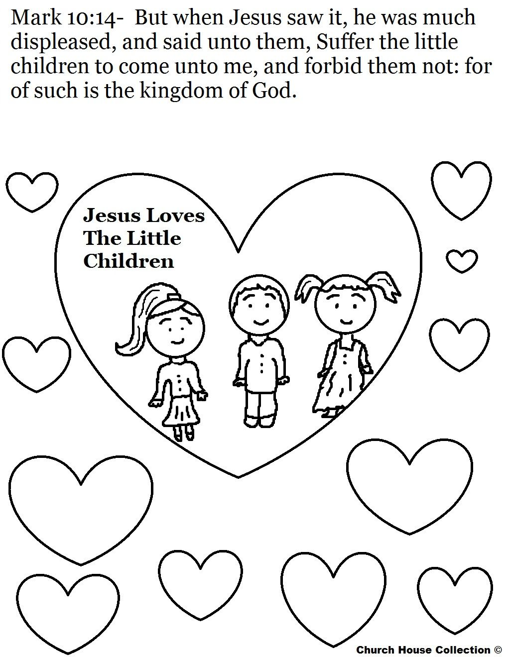 Jesus Loves The Little Children Coloring Page Jpg 1 020 1 320