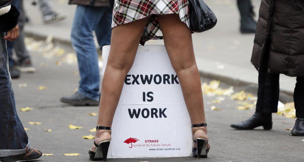 Imagen de archivo de una manifestación de prostitutas. (Reuters)