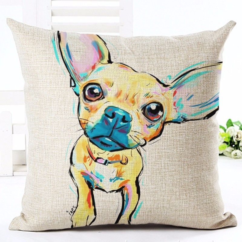 NEW ITEM These super cute cartoon dogs will win over your heart and make you smile every time you see them! Your dogs will love them too as they're soft and comfortable. These pillow cases are hand pr