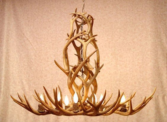 antler chandeliers somewhere thats green pinterest antlers
