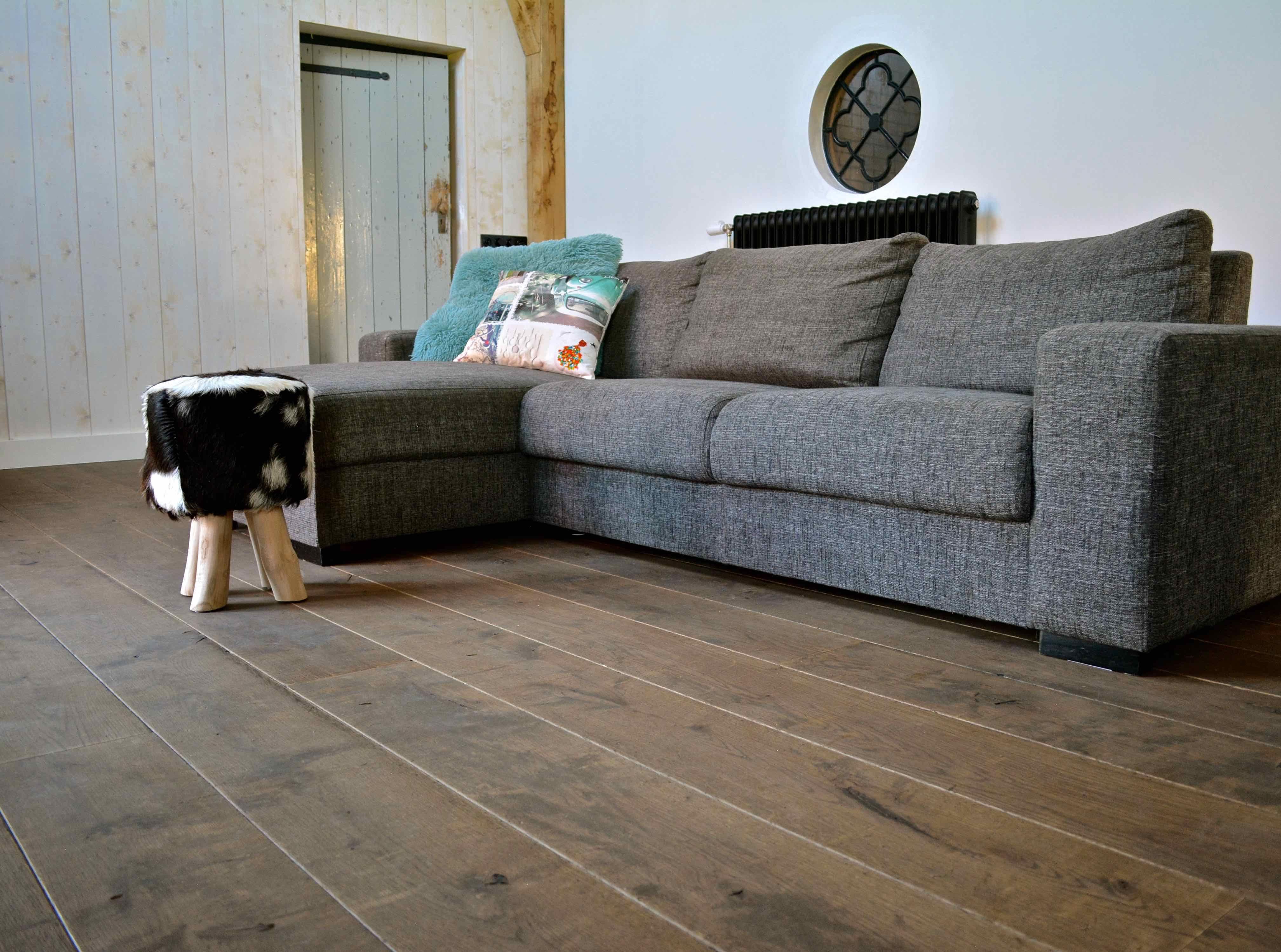 Bruine eiken vloer inspiratie houten vloeren